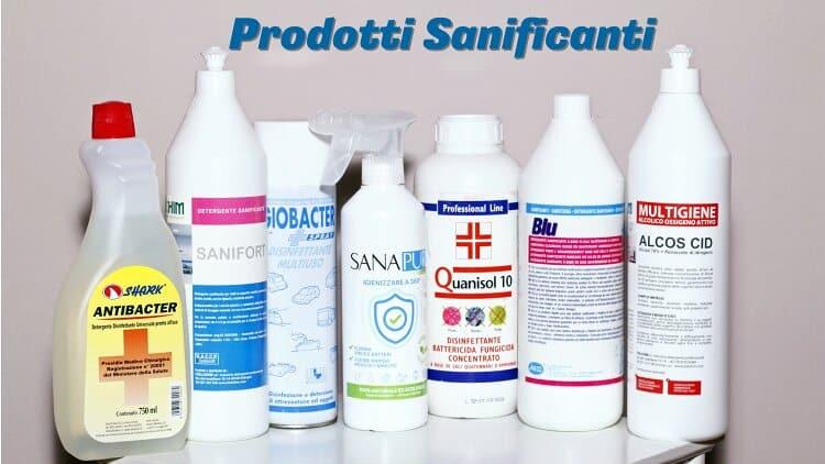 prodotti igienizzanti disinfettanti sanificanti