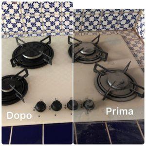 pulire fornelli piano cottura correggio