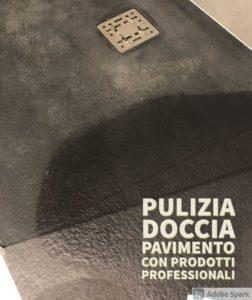 pulizia pavimento doccia Bologna