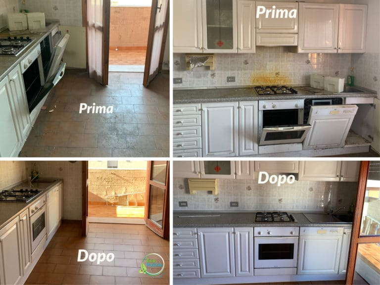 pulizia di fondo cucina